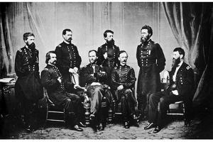 William Tecumseh Sherman and His Generals, American Civil War, 1865 by MATHEW B BRADY