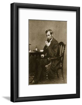 Abraham Lincoln Sitting at Desk, 1861