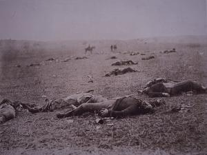 Dead Soldiers on the Battlefield of Getyysburg, 1863 by Mathew Brady