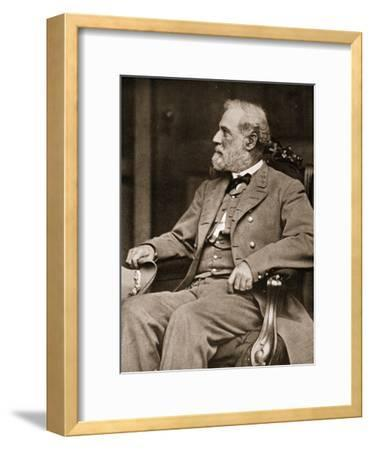 General Robert E. Lee Sitting in His House in Richmond, 1865