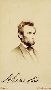 Photographic Portrait of Abraham Lincoln, 1864 by Mathew Brady