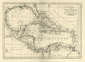 Chart of the West Indies, c.1795 by Mathew Carey