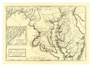 State of Maryland, c.1795 by Mathew Carey