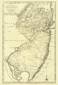 State of New Jersey, c.1795 by Mathew Carey