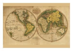 World Map by Mathew Carey
