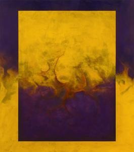 Damascene Moment: Blue and Gold, 2010 by Mathew Clum