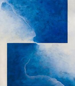 Damascene Moment: Blue and White, 2010 by Mathew Clum