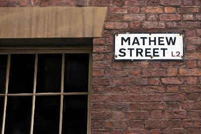 Mathew Street Sign in Liverpool-chrisd2105-Photographic Print