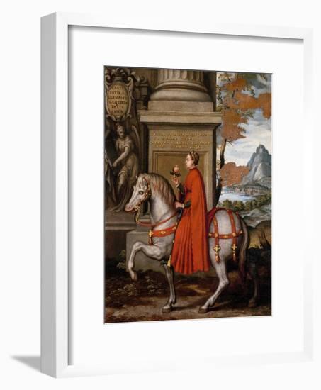 Mathild of Canossa on Horseback-Orazio Farinati-Framed Premium Giclee Print