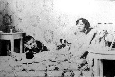 Mathilde Kschessinska, Russian Prima Ballerina, with Her Son, Volodya, 1910--Giclee Print