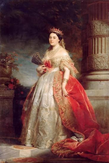 Mathilde Laetitia Wilhelmine Bonaparte, Princesse Française (1820-190)-Édouard Louis Dubufe-Giclee Print