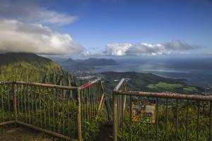 Above Windward Oahu by Matias Jason