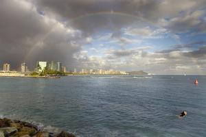 Honolulu Rainbow by Matias Jason