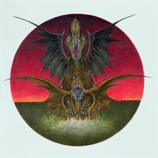Mating Dragons, 1979-Wayne Anderson-Giclee Print