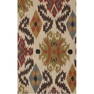 Matmi Area Rug - Chocolate/Olive 5' x 8'