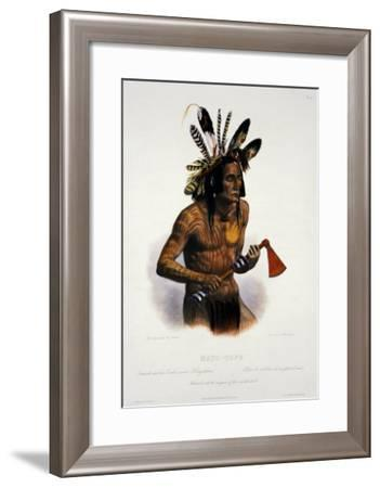Mato-Tope, Adorned with the Insignia of His Warlike Deeds-Karl Bodmer-Framed Giclee Print