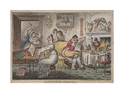 Matrimonial Harmonics, Published by Hannah Humphrey, 1805-James Gillray-Giclee Print