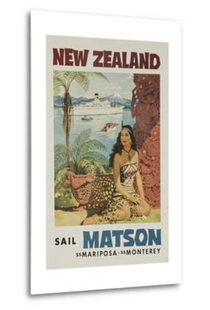 Matson Lines Travel Poster, New Zealand