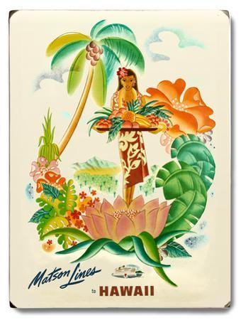 Matson Lines Tropical Fruit Platter