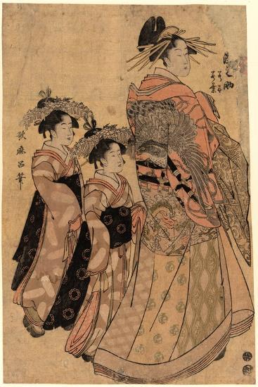 Matsubaya Uchi Somenosuke-Kitagawa Utamaro-Giclee Print