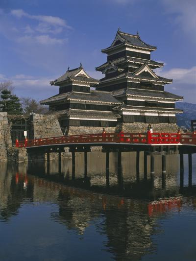 Matsumoto Castle and Moat, Nagano Ken, Japan, Asia--Photographic Print