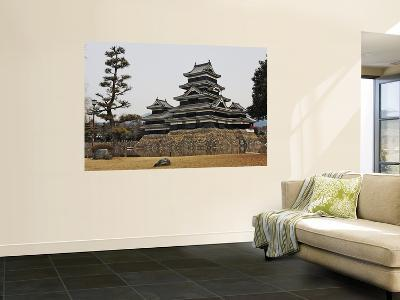Matsumoto Castle with Moat and Stone Work-Frank Carter-Wall Mural