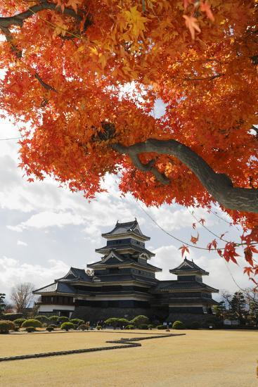 Matsumoto-Jo (Wooden Castle) in Autumn, Matsumoto, Central Honshu, Japan, Asia-Stuart Black-Photographic Print