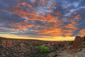 Sunset on Puebloan Ruins in Hovenweep by Matt Champlin