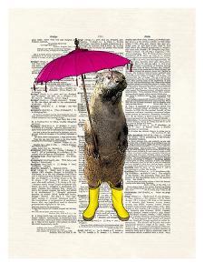 Rainy Day Otter by Matt Dinniman