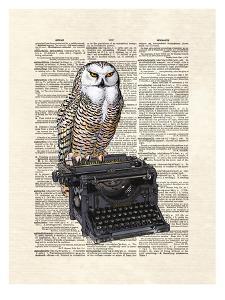 Typewriter Owl by Matt Dinniman