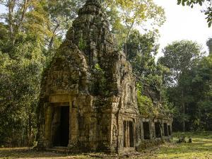 Cambodia, Angkor Wat. Small Temple by Matt Freedman