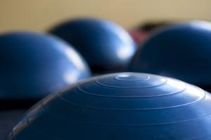 Still Life of Gym Exercise Ball by Matt Freedman
