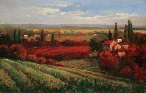 Tuscan Fields of Red by Matt Thomas