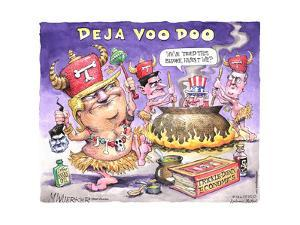 Deja Voo Doo. We've tried this before, haven't we? T. Laffer Snake Oil. Trickle-Down Economics. by Matt Wuerker