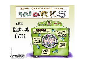 How Washington Works.  The Election Cycle. by Matt Wuerker
