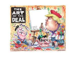 The Art of the Deal. Repeal & Replace by Donald J. Trump. Senate paint. House paint. by Matt Wuerker