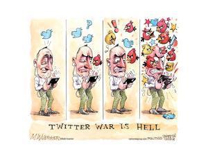 Twitter War is Hell. by Matt Wuerker
