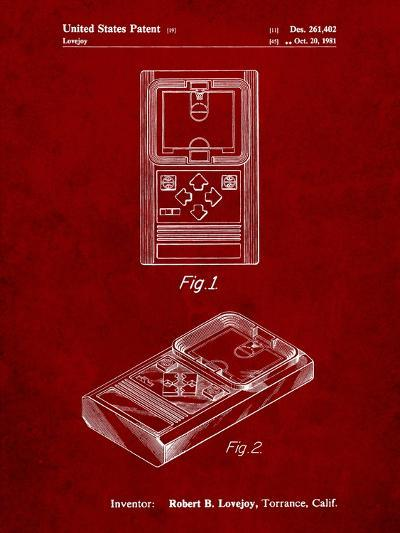 Mattel Electronic Basketball Game Patent-Cole Borders-Art Print