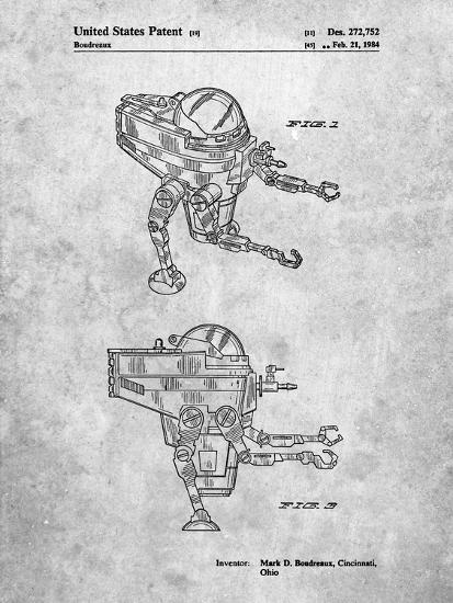 Mattel Space Walking Toy Patent-Cole Borders-Art Print