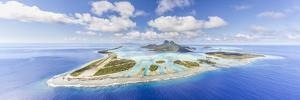 Aerial View of Bora Bora Island with Airstrip Visible, French Polynesia by Matteo Colombo