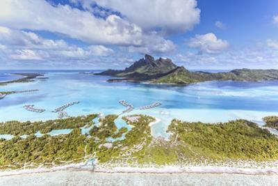 Aerial View of Bora Bora Island with St Regis and Four Seasons Resorts, French Polynesia by Matteo Colombo