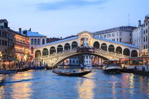 Italy, Venice. Grand Canal and Rialto Bridge by Matteo Colombo