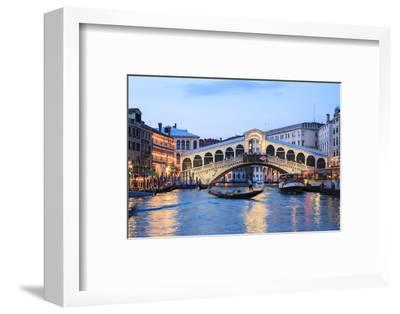 Italy, Venice. Grand Canal and Rialto Bridge