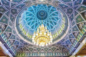 Oman, Muscat. the World's Largest Swarovski Cyrstal Chandelier in the Main Prayer Hall by Matteo Colombo