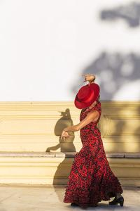 Spain, Andalusia, Seville. Flamenco Dancer Performing Outdoors by Matteo Colombo