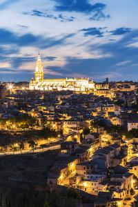 Spain, Castile–La Mancha, Toledo. City and the Cathedral at Dusk by Matteo Colombo