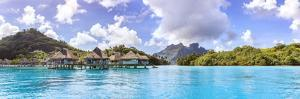 Water Bungalows of Hilton Resort in the Lagoon of Bora Bora, French Polynesia by Matteo Colombo