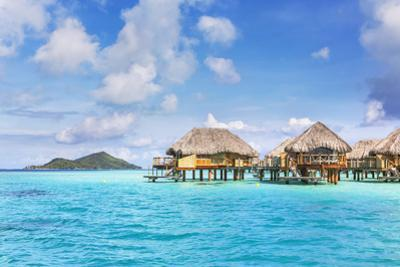 Water Bungalows of Pearl Beach Resort in the Lagoon of Bora Bora, French Polynesia by Matteo Colombo