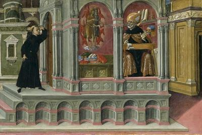 Saint Augustine's Vision of Saints Jerome and John the Baptist, 1476