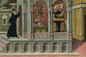 Saint Augustine's Vision of Saints Jerome and John the Baptist, 1476 by Matteo di Giovanni di Bartolo